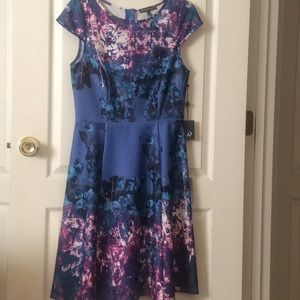 🆕 Adrianna Papell watercolor floral dress-size 10